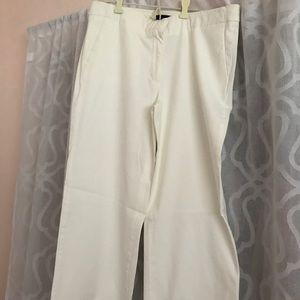Jcrew white cropped pants.. wide leg..